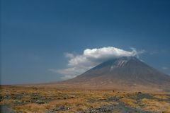 Volcano Lengai in Tanzania, Africa Stock Image