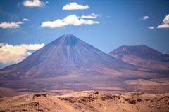 Volcano licancabur near San Pedro de Atacama. Beautiful view on the volcano licancabur near San Pedro de Atacama, Chile, South America Royalty Free Stock Images
