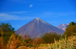 Volcano Licancabur, San Pedro De Atacama - Chile Stock Photo