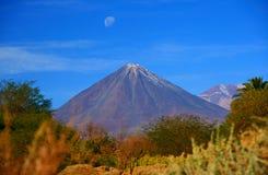 Volcano Licancabur, San Pedro De Atacama - Chile Stock Photo