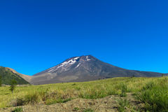 Volcano Lonquimay in Chile royalty free stock photography