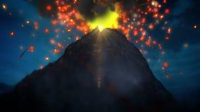 Volcano loop stock footage
