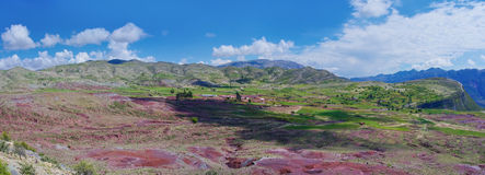 Volcano Maragua in Bolivia. Panorama Royalty Free Stock Images