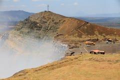 Volcano Masaya éclatant Images libres de droits