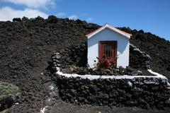 Volcano memorial chapel Royalty Free Stock Photos