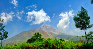 Volcano of Merapi in Central Java, Indonesia 2012.  stock images