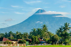 Volcano Merapi Stock Photo