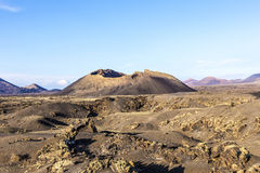 Volcano Montana Colorada in Lanzarote, Tinajo Royalty Free Stock Images
