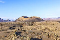 Volcano Montana Colorada in Lanzarote, Tinajo Stock Photography