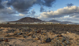Volcano Montana Roja. In Lanzarote Royalty Free Stock Images