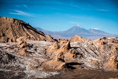 Volcano, Moon Valley, Atacama, Chile stock photography