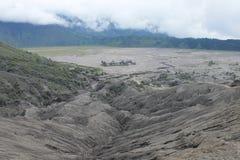 Volcano Mount Bromo Eruption östliga Java Indonesia Royaltyfri Fotografi