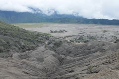 Volcano Mount Bromo Eruption, Ost-Java Indonesia Lizenzfreie Stockfotografie