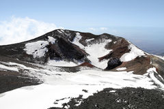 Volcano mount Etna crater Royalty Free Stock Images