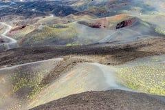 Volcano Mount Etna para la impresión Imagenes de archivo