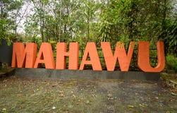 Volcano Mount Mahawu stock image