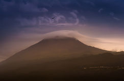 Volcano Mount Pico på Pico Island, Azores Royaltyfri Foto