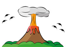 Volcano. This mount is spreading the volcano Royalty Free Stock Photo