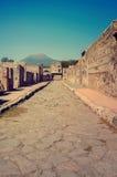 Volcano Mount Vesuvius em Pompeii Foto de Stock