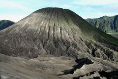 Volcano. Mountain in Java Indonesia Royalty Free Stock Photo