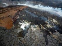 Volcano Mountain med dimma Fotografering för Bildbyråer