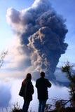 Volcano Mt Bromo Erupting Photo libre de droits
