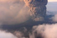 Volcano Mt Bromo Erupting Photo stock