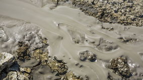 Volcano Mud Flowing Down The Land stock footage