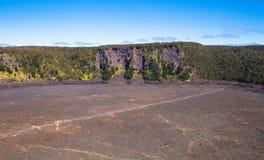 Volcano national park Kīlauea Iki  crate. Kīlauea Iki is a pit crater next to the main summit caldera of Kīlauea Royalty Free Stock Photography