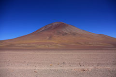 Volcano near the Laguna Colorada Royalty Free Stock Image
