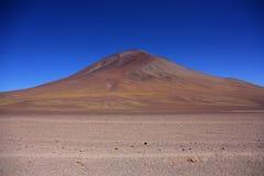 Volcano near the Laguna Colorada. At the border between Chile and Bolivia Royalty Free Stock Image