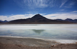 Volcano near the Laguna Colorada Stock Image