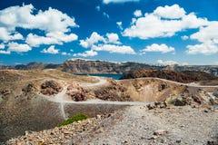 Volcano near the Santorini island Royalty Free Stock Image