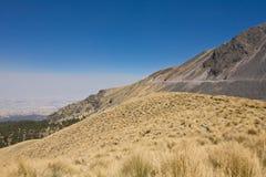 Volcano Nevada de Toluca, Mexico. Volcano Nevada de Toluca with lakes inside crater in Mexico - famous tourist destination stock photos
