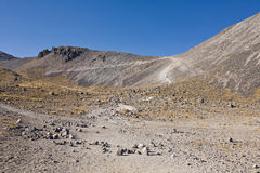 Volcano Nevada de Toluca, Mexico. Volcano Nevada de Toluca with lakes inside crater in Mexico - famous tourist destination stock photo