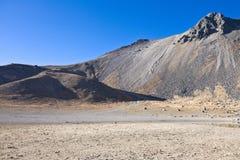 Volcano Nevada de Toluca, Mexico. Volcano Nevada de Toluca with lakes inside crater in Mexico - famous tourist destination royalty free stock images