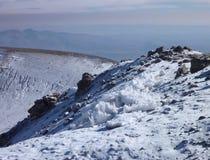 Volcano nevado chachani above arequipa Royalty Free Stock Image