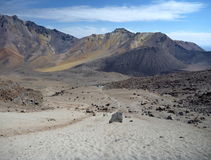 Volcano nevado chachani above arequipa Royalty Free Stock Photography