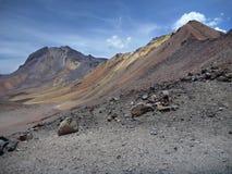 Volcano nevado chachani above arequipa Royalty Free Stock Photo