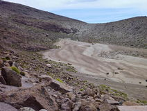 Volcano nevado chachani above arequipa Royalty Free Stock Photos
