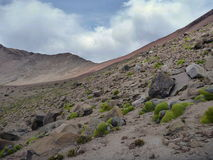 Volcano nevado chachani above arequipa Royalty Free Stock Photography