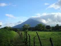 Volcano in Nicaragua. Concepcion volcano in Ometepe islands of Nicaragua Stock Images