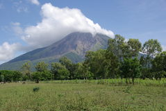 Volcano in Nicaragua Royalty Free Stock Photos