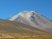Volcano Ollaque, Altiplano, Bolivia Royalty Free Stock Photography