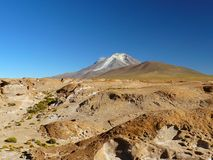 Volcano Ollaque, Altiplano, Bolivia Royalty Free Stock Photos