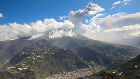 Volcano Over The City stock videobeelden