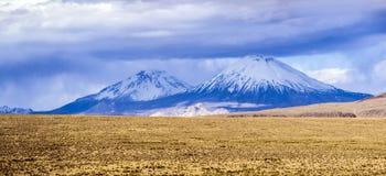 Volcano Parinacota, Chile. Volcano Parinacota, part of Payachata twin peaks, Tarapaca Region, Chile, South America Royalty Free Stock Photography
