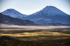 Volcano Parinacota, Chile Stock Photo
