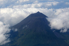 Volcano Pico on the Azores Portugal Royalty Free Stock Photo