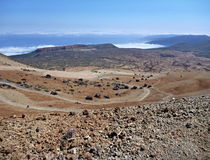 Volcano pico del teide at Tenerife Royalty Free Stock Images